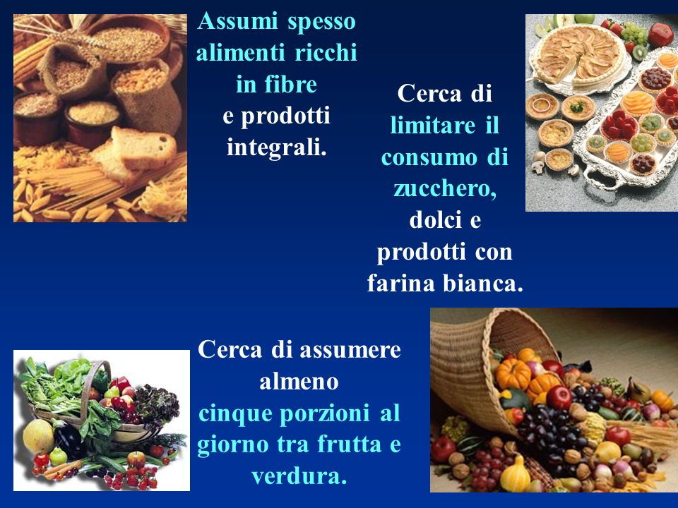 Assumi spesso alimenti ricchi in fibre