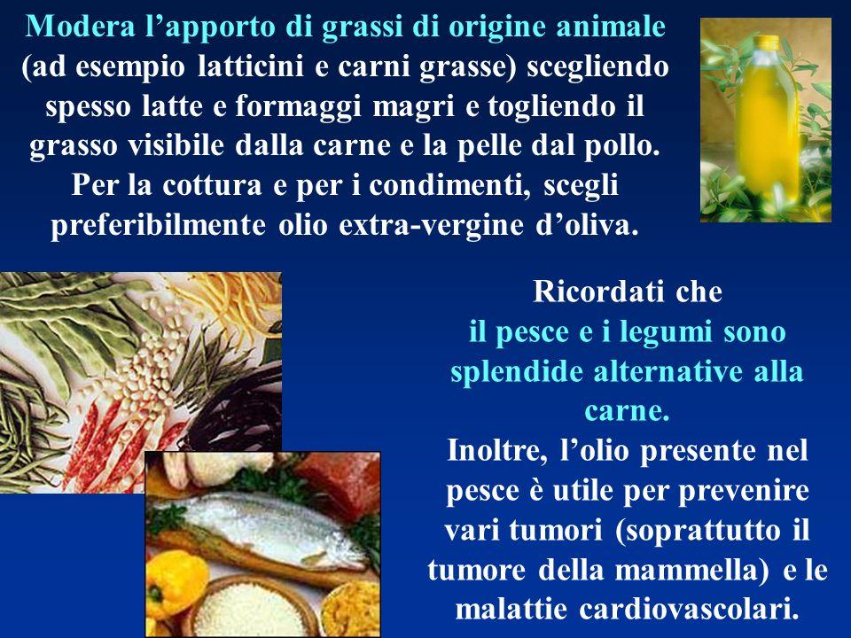 il pesce e i legumi sono splendide alternative alla carne.