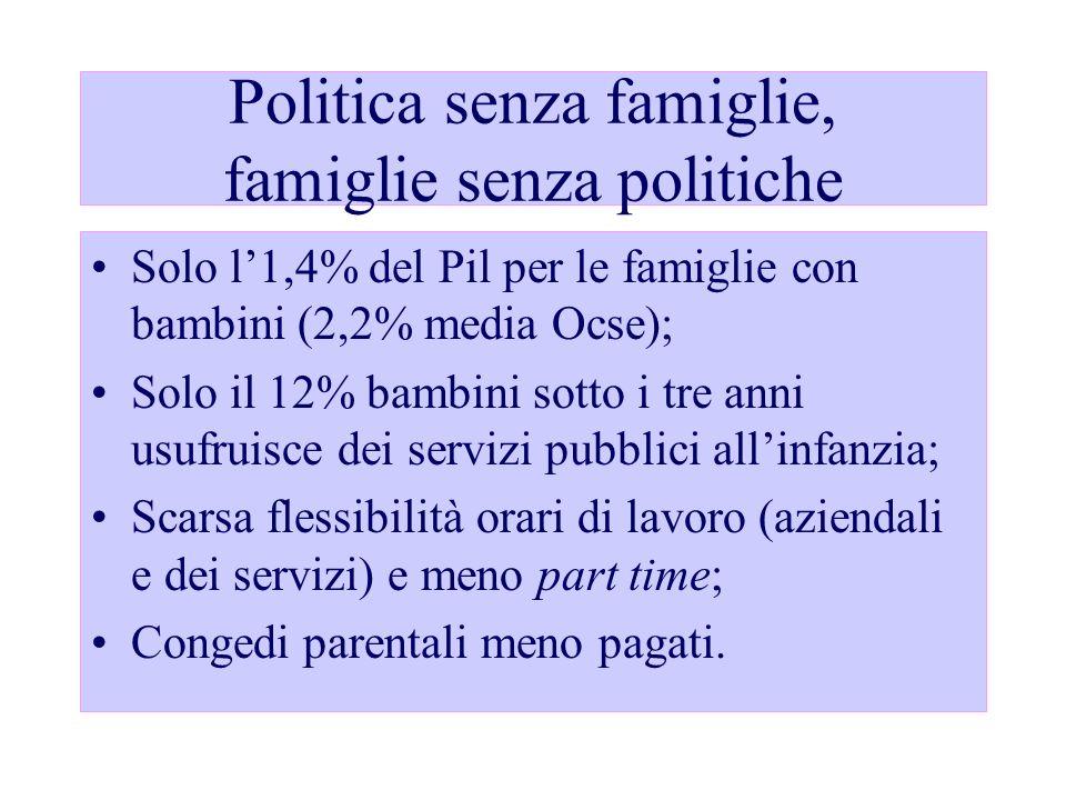 Politica senza famiglie, famiglie senza politiche