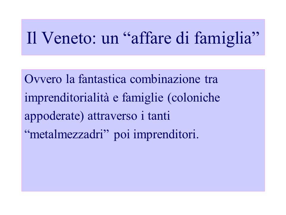 Il Veneto: un affare di famiglia