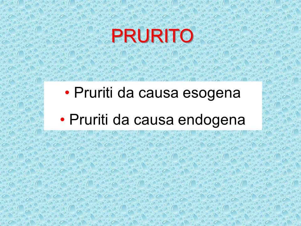 PRURITO Pruriti da causa esogena Pruriti da causa endogena
