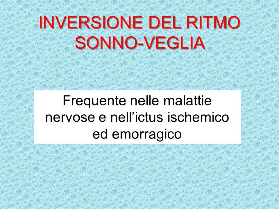 INVERSIONE DEL RITMO SONNO-VEGLIA