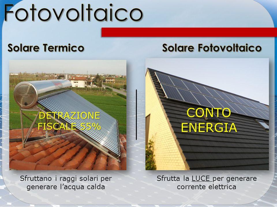 Fotovoltaico CONTO ENERGIA Solare Termico Solare Fotovoltaico