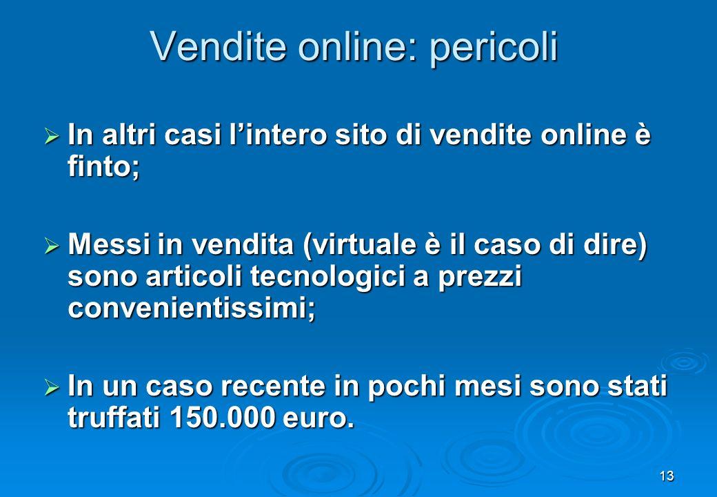 Vendite online: pericoli