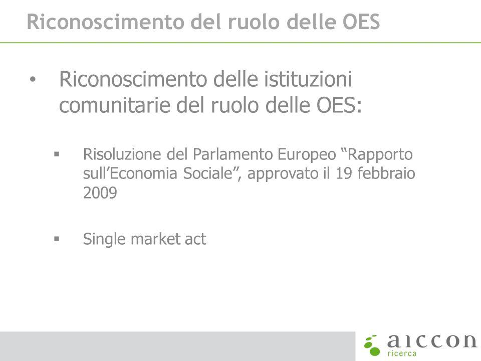 Riconoscimento del ruolo delle OES