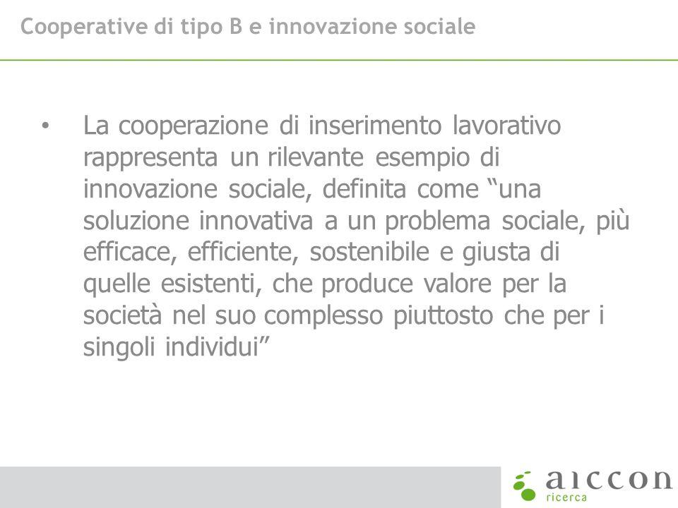 Cooperative di tipo B e innovazione sociale