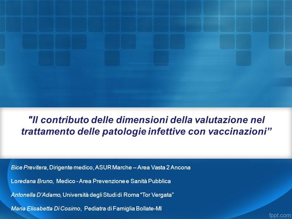 Il contributo delle dimensioni della valutazione nel trattamento delle patologie infettive con vaccinazioni