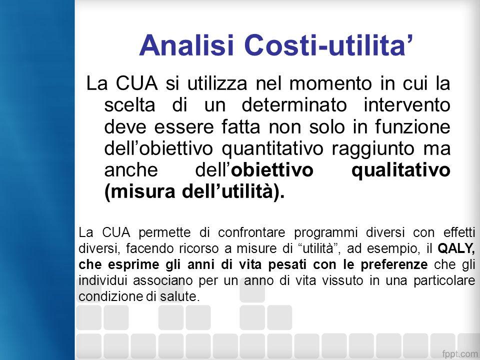 Analisi Costi-utilita'