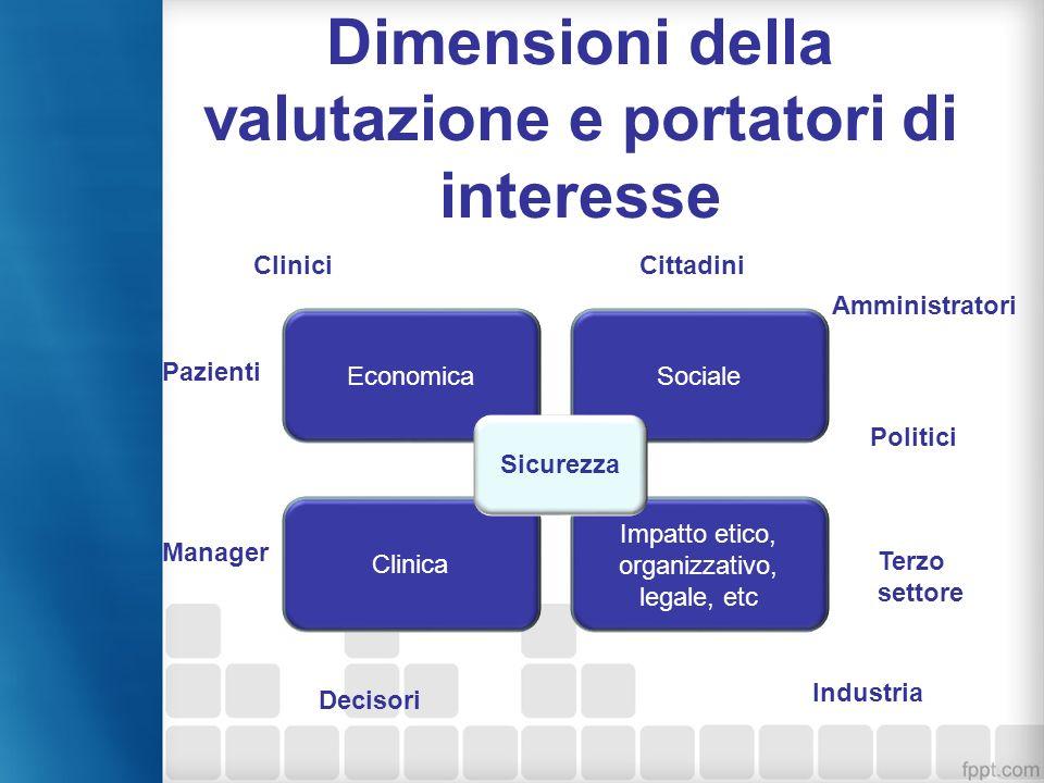 Dimensioni della valutazione e portatori di interesse