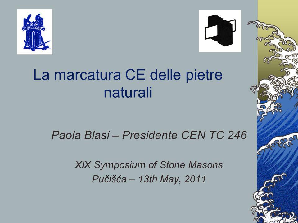 La marcatura CE delle pietre naturali