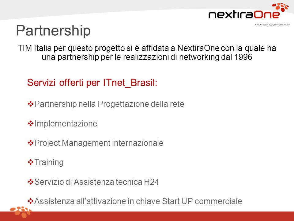 Partnership Servizi offerti per ITnet_Brasil:
