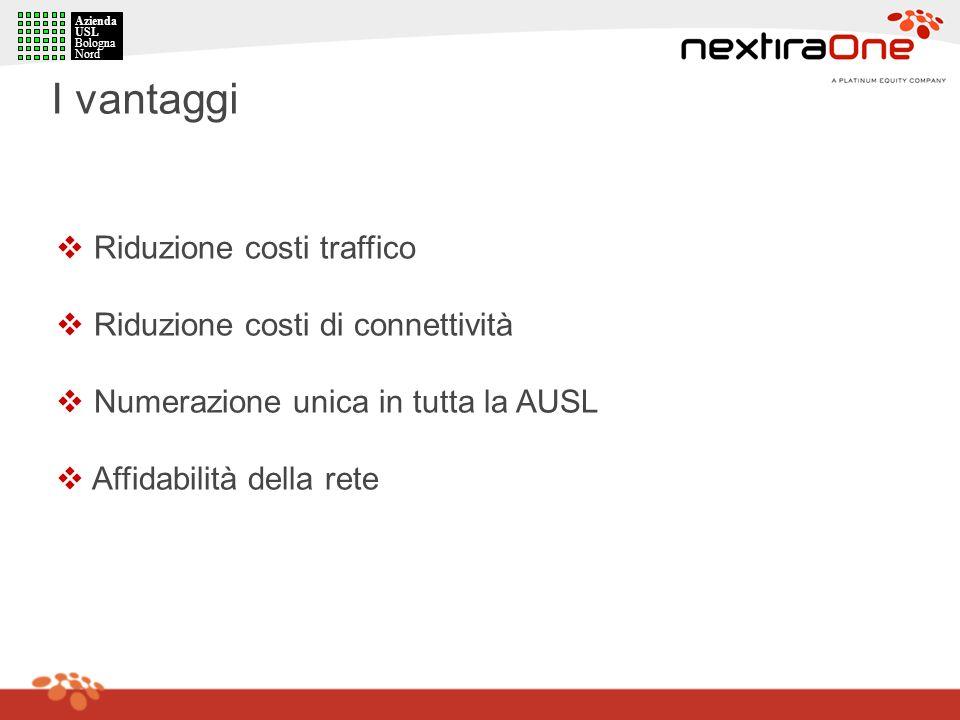 I vantaggi Riduzione costi traffico Riduzione costi di connettività