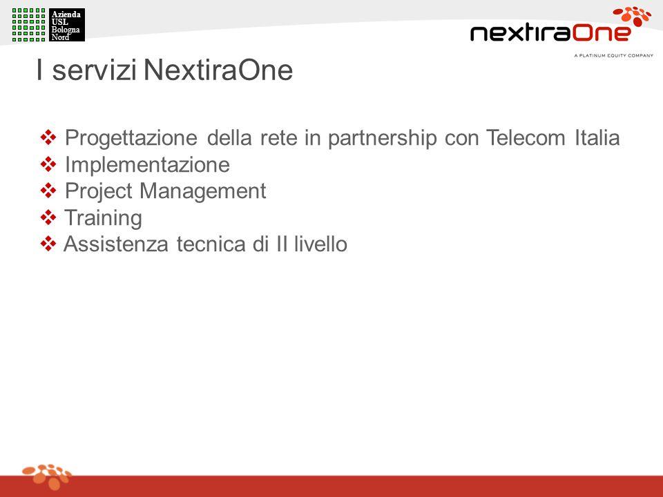 AziendaUSL. Bologna. Nord. I servizi NextiraOne. Progettazione della rete in partnership con Telecom Italia.