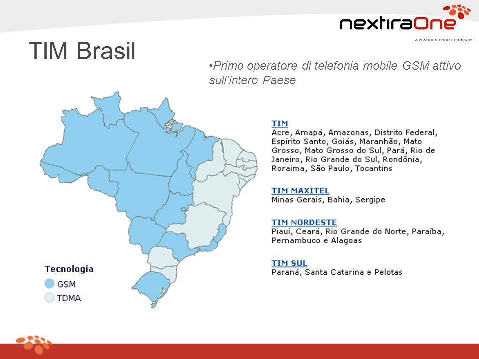 TIM Brasil Primo operatore di telefonia mobile GSM attivo sull'intero Paese