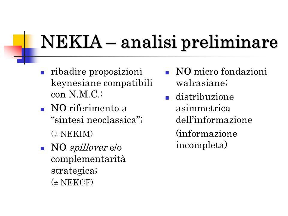 NEKIA – analisi preliminare