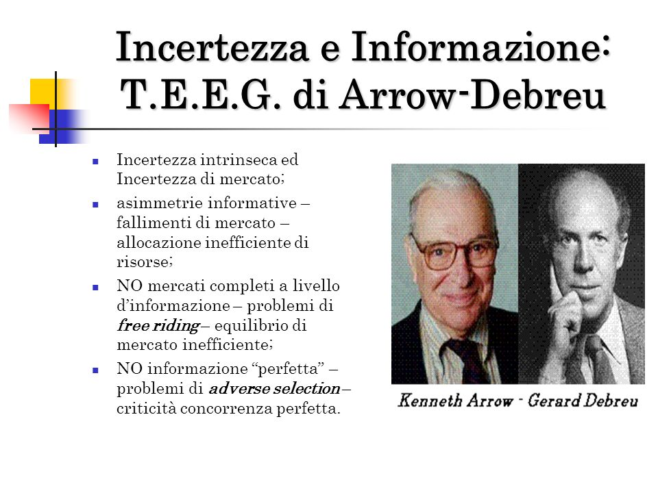 Incertezza e Informazione: T.E.E.G. di Arrow-Debreu