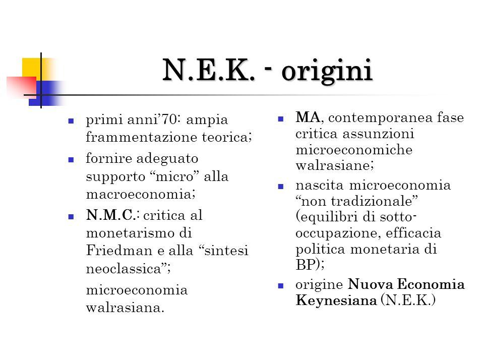 N.E.K. - origini primi anni'70: ampia frammentazione teorica;