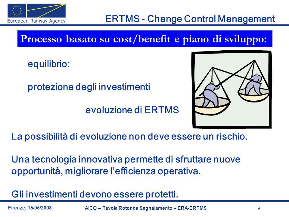 Processo basato su cost/benefit e piano di sviluppo: