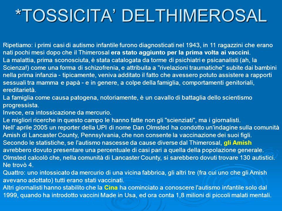 *TOSSICITA' DELTHIMEROSAL