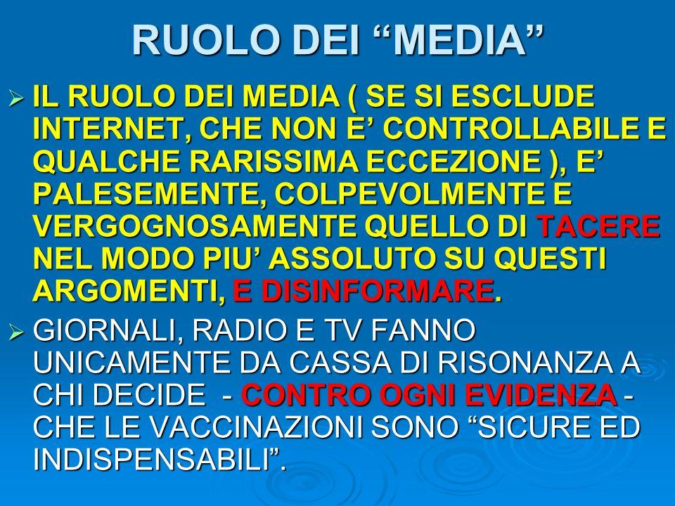 RUOLO DEI MEDIA