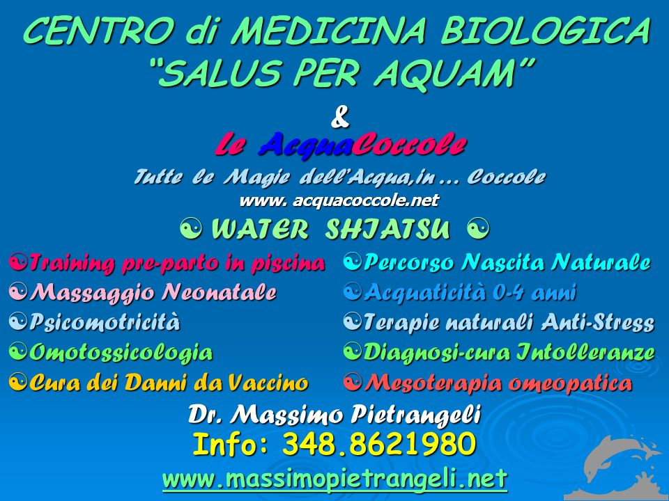 CENTRO di MEDICINA BIOLOGICA SALUS PER AQUAM