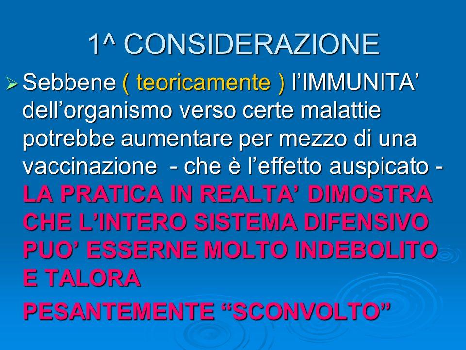 1^ CONSIDERAZIONE