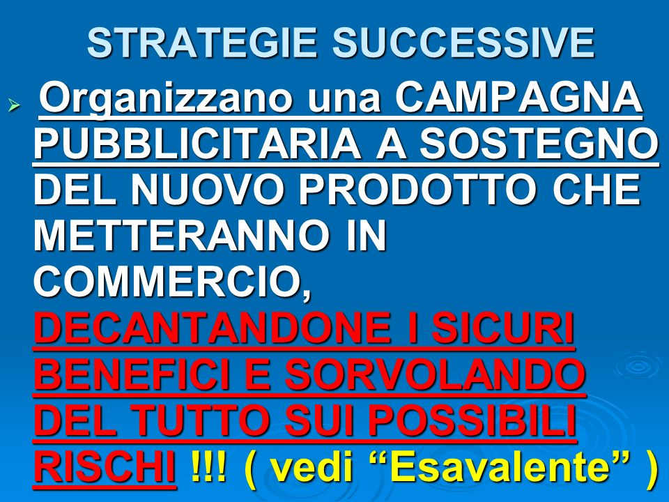 STRATEGIE SUCCESSIVE