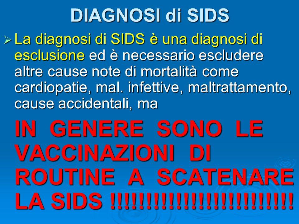 DIAGNOSI di SIDS