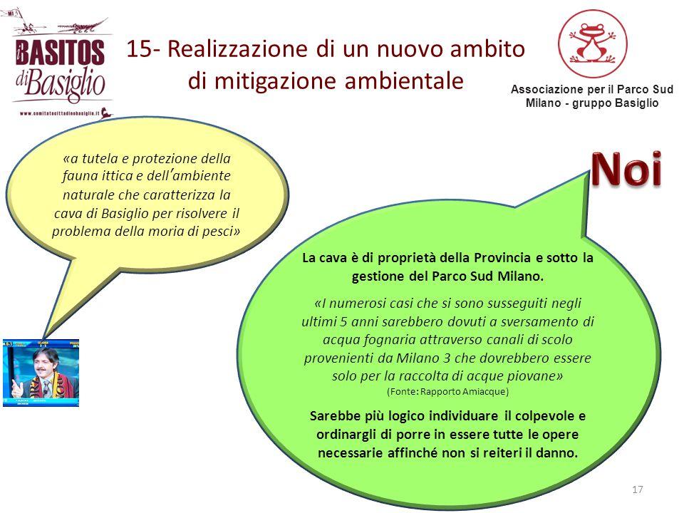 15- Realizzazione di un nuovo ambito di mitigazione ambientale