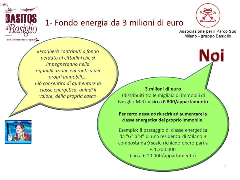 1- Fondo energia da 3 milioni di euro