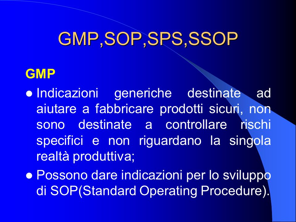 GMP,SOP,SPS,SSOP GMP.