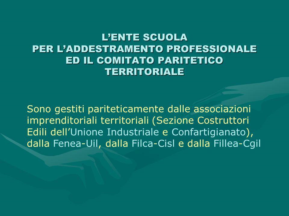 L'ENTE SCUOLA PER L'ADDESTRAMENTO PROFESSIONALE ED IL COMITATO PARITETICO TERRITORIALE
