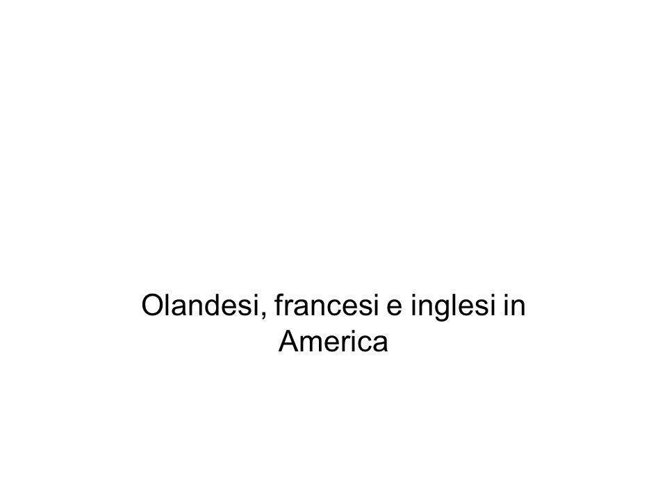 Olandesi, francesi e inglesi in America