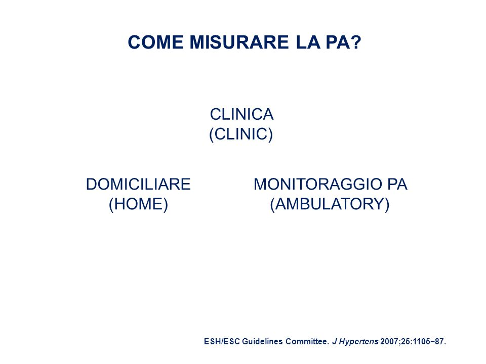 MONITORAGGIO PA (AMBULATORY)