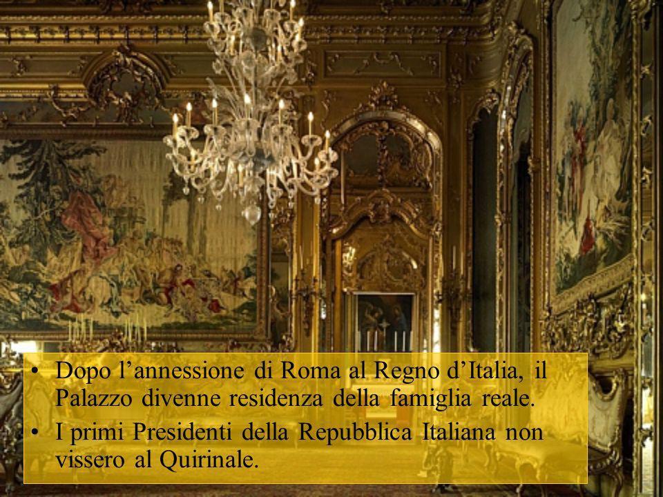 Dopo l'annessione di Roma al Regno d'Italia, il Palazzo divenne residenza della famiglia reale.