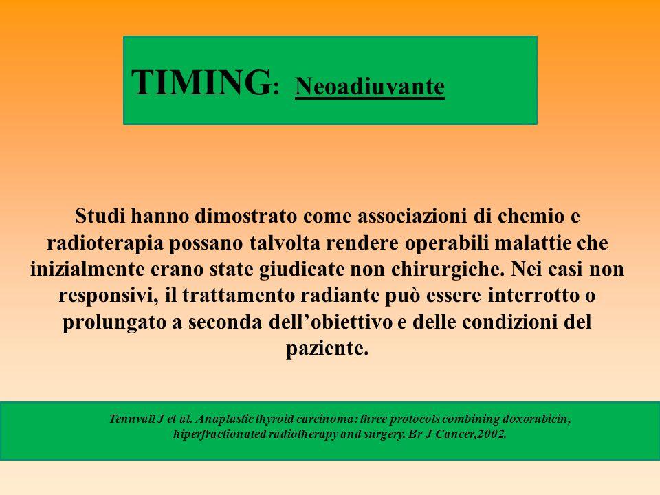 TIMING: Neoadiuvante