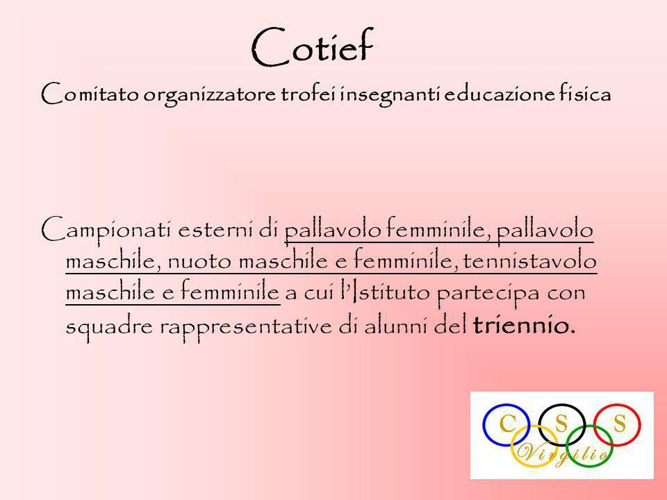 Cotief Comitato organizzatore trofei insegnanti educazione fisica.