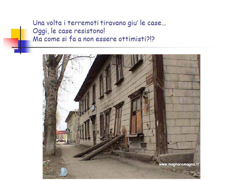 Una volta i terremoti tiravano giu' le case… Oggi, le case resistono