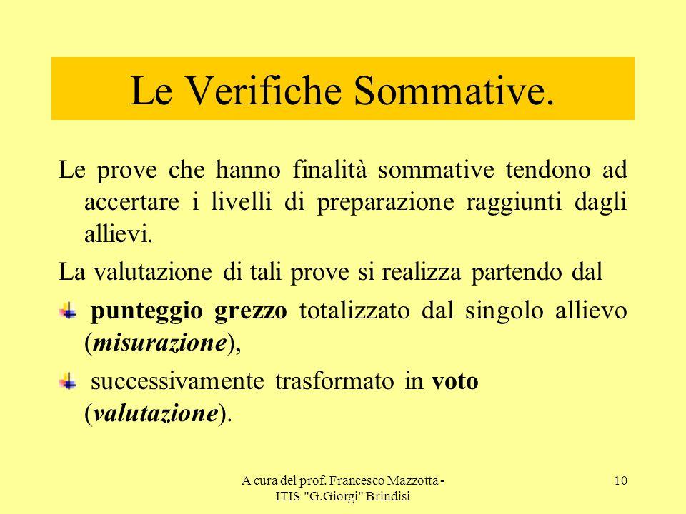 Le Verifiche Sommative.