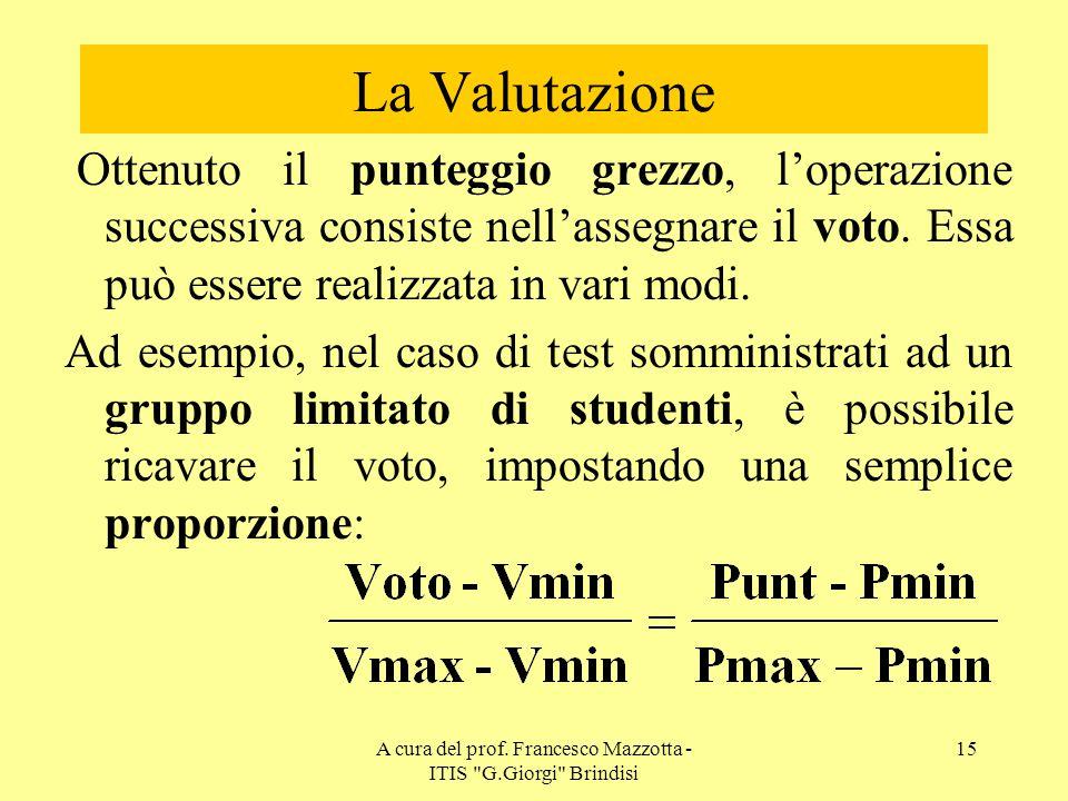 A cura del prof. Francesco Mazzotta - ITIS G.Giorgi Brindisi