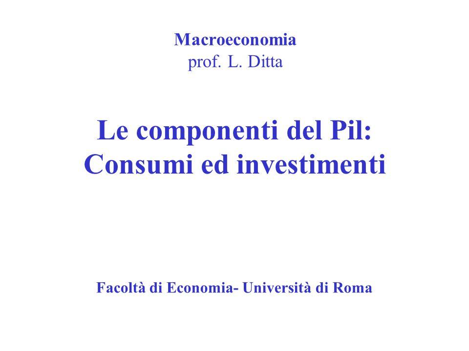 Macroeconomia prof. L. Ditta