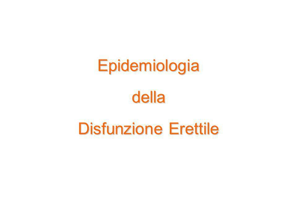 Epidemiologia della Disfunzione Erettile