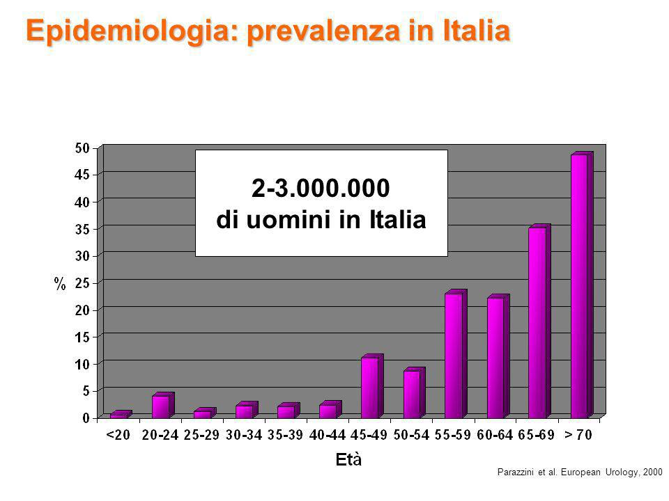 Epidemiologia: prevalenza in Italia