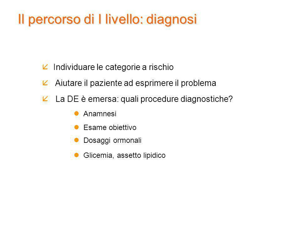 Il percorso di I livello: diagnosi
