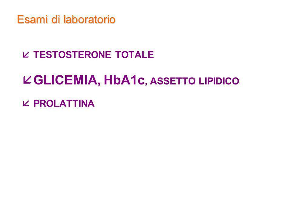 GLICEMIA, HbA1c, ASSETTO LIPIDICO