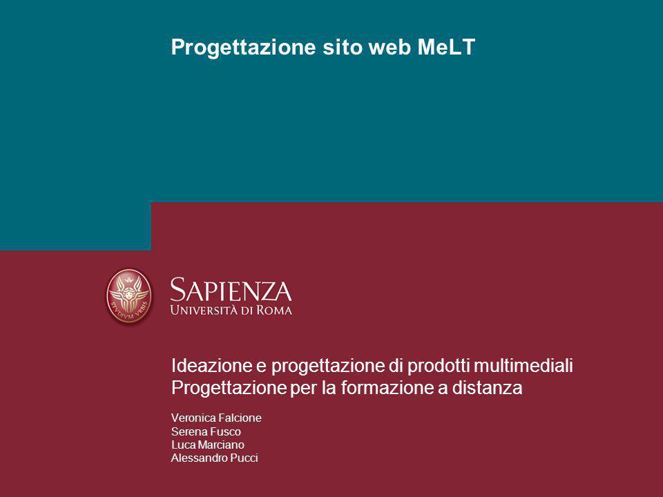 Progettazione sito web MeLT