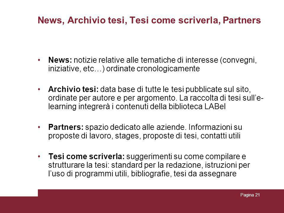 News, Archivio tesi, Tesi come scriverla, Partners