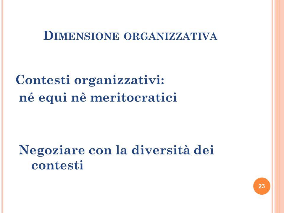 Dimensione organizzativa