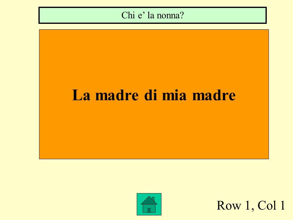 Chi e' la nonna La madre di mia madre Row 1, Col 1