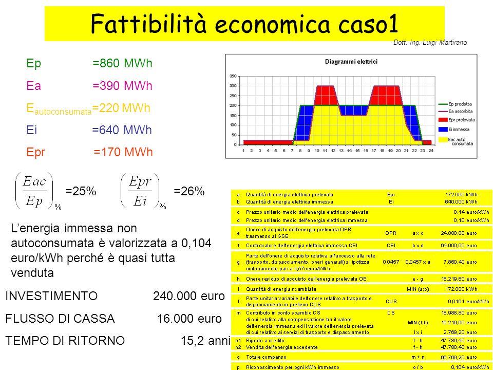 Fattibilità economica caso1